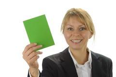 Green card stock image