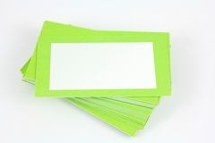 Green_card. Green business card with an empty place for text royalty free stock photography