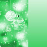 Green card with christmas balls. EPS 8 Royalty Free Stock Images