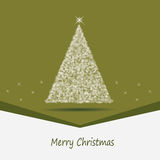 Green card with a Christmas theme Stock Photo