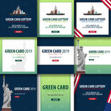 Green Card Lottery banner. Immigration and Visa to the USA. Royalty Free Stock Image