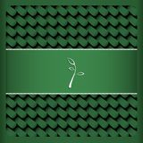Green Card mit Blatttee Lizenzfreie Stockfotografie