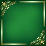 Green Card mit goldenem Rahmen Stockfotos