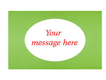 Green card oval frame, festive Christmas Stock Photos
