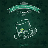Green card for St. Patrick's Day with hat Royalty Free Stock Photography