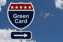 Green Card this way Royalty Free Stock Photos