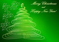 Green Card-Weihnachtsbaum Lizenzfreie Stockfotografie