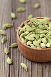 Green cardamom ayurveda asian aroma spice in a Stock Photo