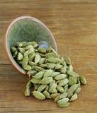 Green cardamom pods spice Stock Image