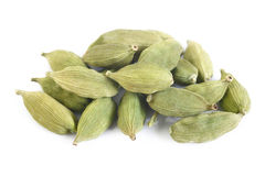 Green cardamom pods Royalty Free Stock Photography