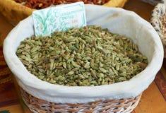 Green cardamom spice Stock Image