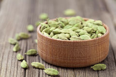 Green cardamom super food ayurveda asian aroma Stock Images