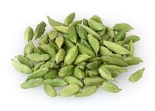 Green cardamon pods isolated on white Stock Image
