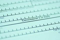 Green Cardanwendung Lizenzfreies Stockbild