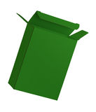 Green cardboard box iolated on white background Royalty Free Stock Photos