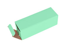 Green cardboard box Stock Photography