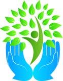 Green care. A vector drawing represents green care design vector illustration