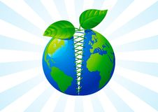 Green care of the world Royalty Free Stock Photos