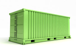 Green cargo container Royalty Free Stock Photo