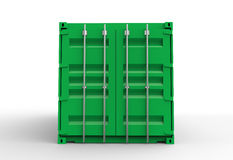 Green cargo container door Stock Images