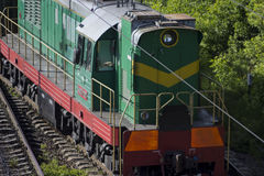 Green cargo train with nobody . Green cargo train with nobody Stock Image