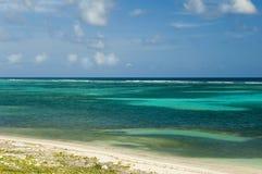 Green Caribbean Beach stock image