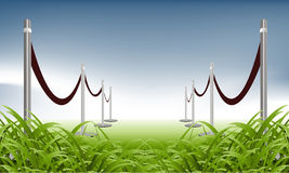 Green carpet royalty free illustration