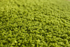 Green carpet texture. Close-up Stock Photo