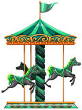 A green carrousel ride Stock Photography