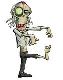 Green cartoon businessman zombie. Royalty Free Stock Photos