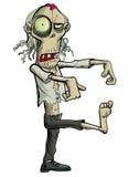 Green cartoon businessman zombie. Isolated on white Royalty Free Stock Photos