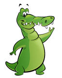 Cartoon crocodile presents Stock Image