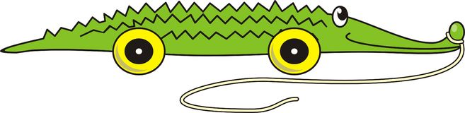 Green cartoon crocodile toy Royalty Free Stock Photography