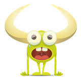Green Cartoon cute monster Royalty Free Stock Photography