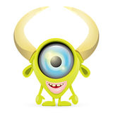 Green Cartoon cute monster Stock Images