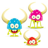 Green Cartoon cute monster Royalty Free Stock Photo