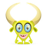 Green Cartoon cute monster Stock Photography