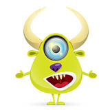 Green Cartoon cute monster Stock Photo
