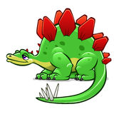 Green cartoon dinosaur Royalty Free Stock Photography