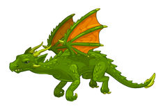 Green cartoon fantasy dragon Stock Photo