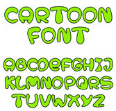Green cartoon font Royalty Free Stock Photos