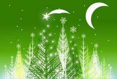 Green Cartoon Forest stock illustration