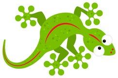 Green cartoon lizard Stock Image