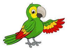 Green Cartoon Parrot Royalty Free Stock Photos