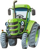 Green cartoon  tractor Stock Image
