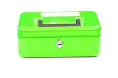 Green cash tin Stock Images