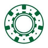 Fun green casino poker chip. Green casino poker chip vector game chance illustration isolated leisure risk play gambling color design luck sport success vegas stock illustration