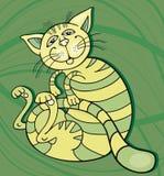 Green Cat happy. Illustration of Green Cat happy Royalty Free Stock Photography