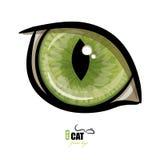 Green cat`s eye. On white, vector illustration, eps-10 Royalty Free Stock Image