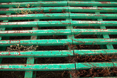 Green cattle guard. Metal cattle guard painted green Royalty Free Stock Photos